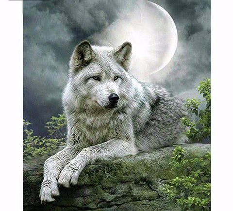 Image of Wolf - DIY Diamond  Painting