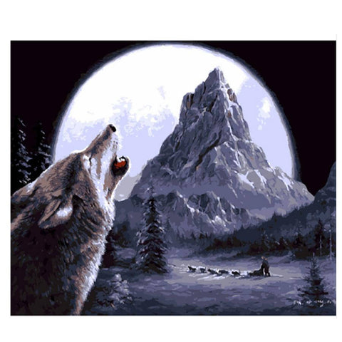 Image of Wolf - DIY Painting By Numbers