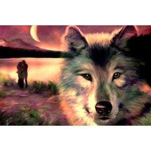 Wolf in the seashore - DIY Diamond Painting