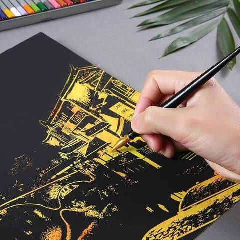 Image of Shanghai - DIY Scratch Painting