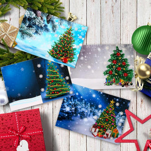 4pcs Christmas Card DIY Diamond Painting