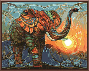 Elephant Abstract - DIY Painting By Numbers
