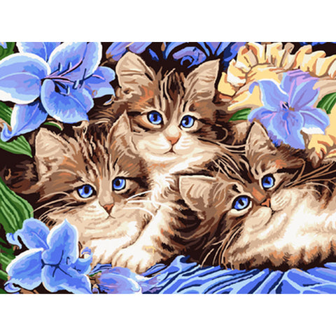 Image of Cats - DIY Painting By Numbers