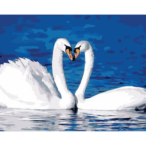 White Swans- DIY Painting By Numbers