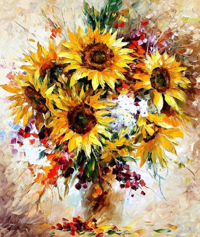 Yellow Bouquet-  DIY Painting By Numbers