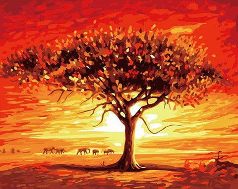 Image of Desert Landscape - DIY Painting By Numbers