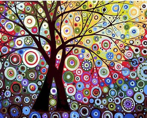 Image of Abstract Tree - DIY Painting By Numbers