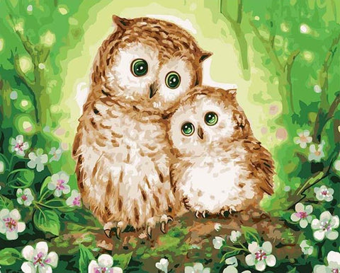 Image of Owl Lovers - DIY Painting By Numbers