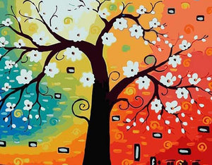 Abstract Tree- DIY Painting By Numbers