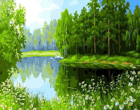 Image of Green Lake -  DIY Painting By Numbers