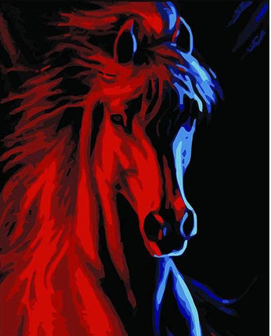Image of Abstract Horse -DIY Painting By Numbers