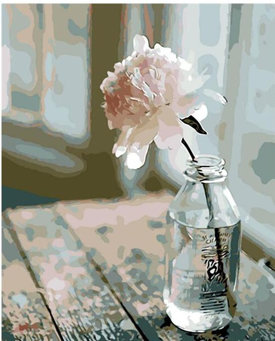 White Flower -  DIY Painting By Numbers