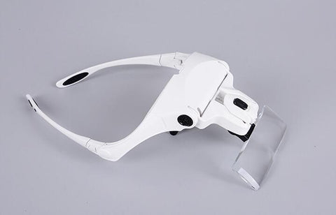 Image of Head Mount Magnifier (up to  3.5X) With LED Light Bracket and Headband