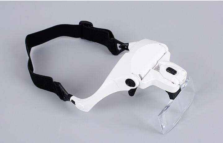 Head Mount Magnifier (up to  3.5X) With LED Light Bracket and Headband