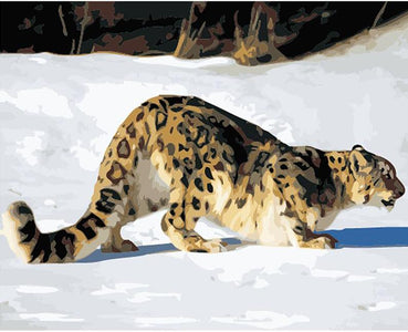 Tiger in the Snow -  DIY Painting By Numbers
