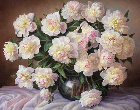 Image of Light Pink Flowers - DIY Painting By Numbers