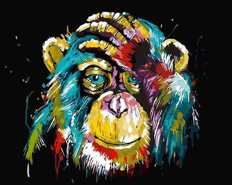 Image of Abstract Monkey- DIY Painting By Numbers
