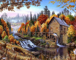 River Landscape - DIY Painting By Numbers