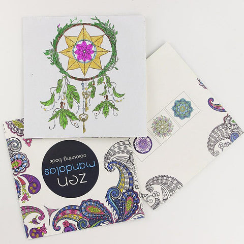 Image of 24 Pages Zen Mandala Coloring Book