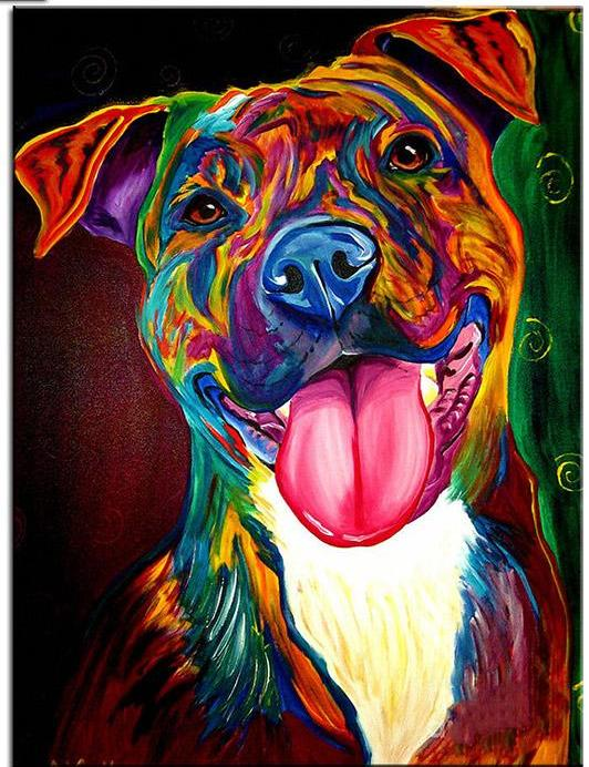 Dog Pop Art #1  - DIY Diamond  Painting