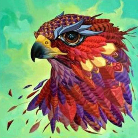 Image of Colorful Eagle Art - DIY Diamond Painting