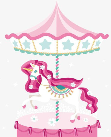 Image of Unicorn Carousel - DIY Diamond Painting