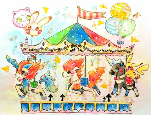 Image of Pokemon Carousel - DIY Diamond Painting