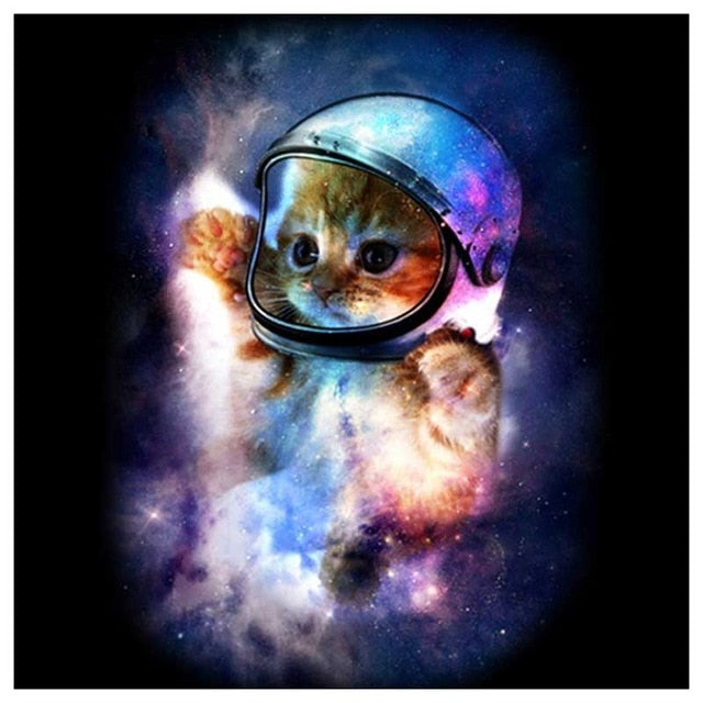 Astronaut Kitten - DIY Diamond Painting