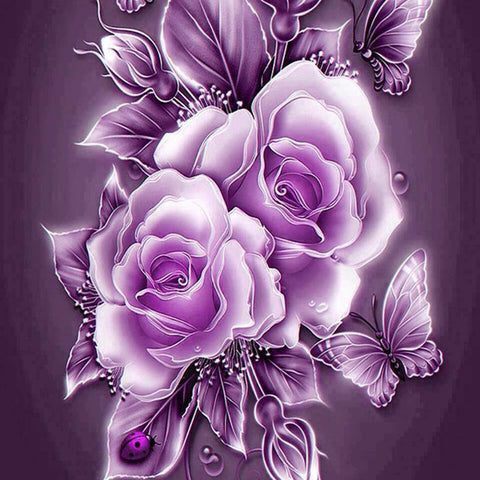 Image of 5d diamond painting rose