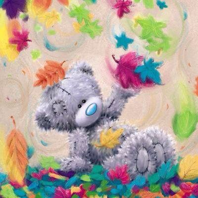 Image of Teddy bear in Autumn - DIY Diamond Painting
