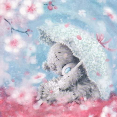 Image of Teddy bear with Umbrella - DIY Diamond Painting