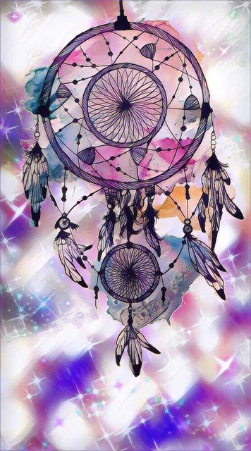 Indian Dream catcher #18 - DIY Diamond Painting