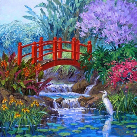 Image of Mini Red Bridge - DIY Diamond Painting