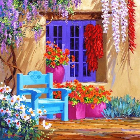 Image of Mediterranean landscape #15 - DIY Diamond Painting