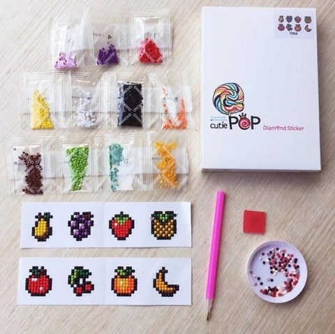 Image of Diamond painting stickers Fruits kit (Watch video in Description below)