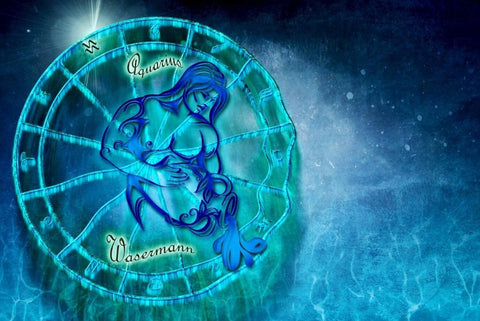 Image of Zodiac Sign (Aquarius) - DIY Diamond Painting
