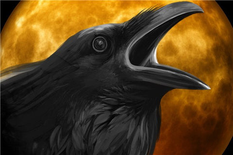 Image of Halloween Crowing Crow - DIY Diamond Painting