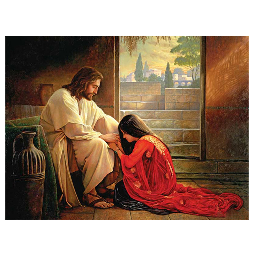 Jesus Christ and Magdalene - DIY Diamond Painting