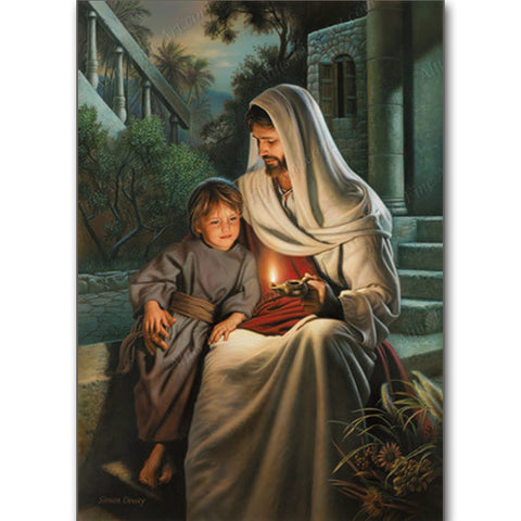 Jesus Christ and the Little Boy - DIY Diamond Painting