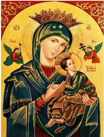 Image of Virgin Mary and Jesus Christ - DIY Diamond Painting