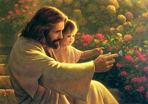Image of Jesus Christ and Baby - DIY Diamond Painting