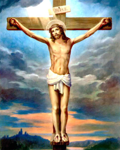 Image of Jesus Christ on the Cross # 4 - DIY Diamond Painting