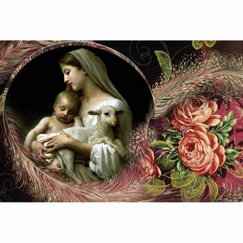 Image of Our Lady and Jesus Christ - DIY Diamond Painting