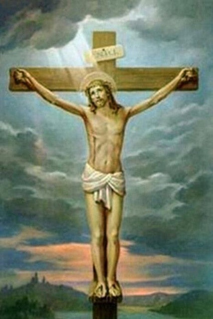 Jesus Christ on the Cross #2 - DIY Diamond Painting