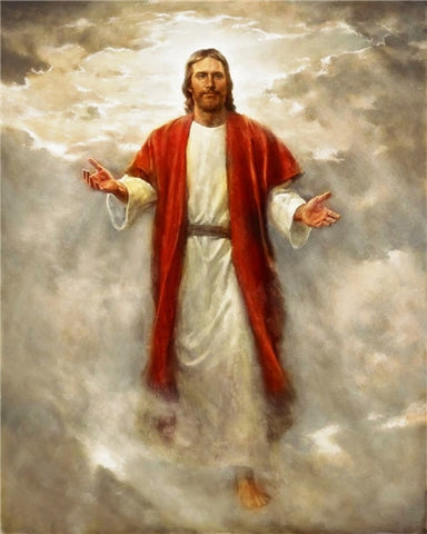 a painting of jesus christ