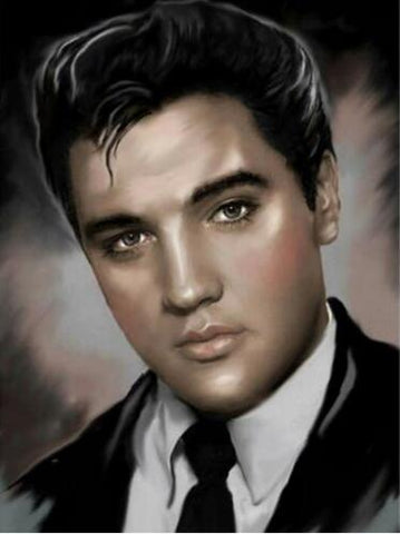 Image of elvis presley canvas painting