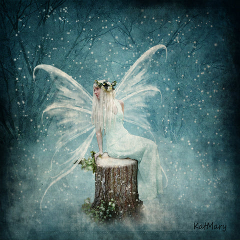 Image of Fairy in Snow - DIY Diamond Painting