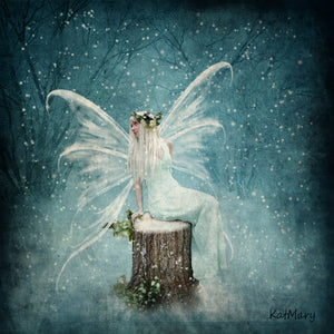 Fairy in Snow - DIY Diamond Painting