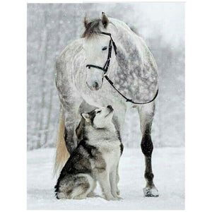 Horse and Wolf - DIY Diamond Painting