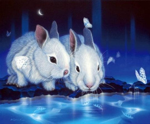 Image of Rabbits - DIY Diamond Painting